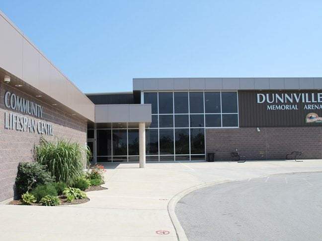 Dunnville Arena Outside