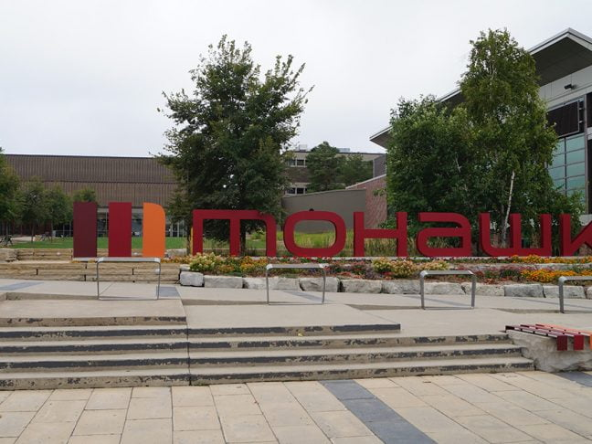 Mohawk College Sign